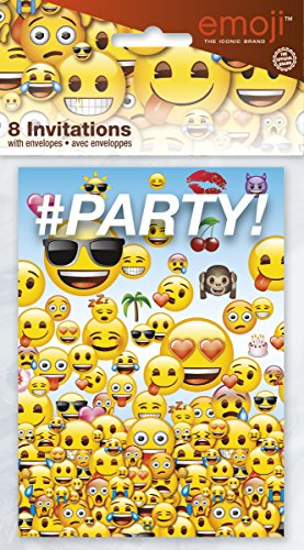 Emoji Party Invitations, 8ct