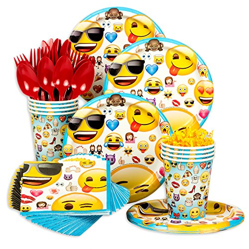 Emoji Standard Birthday Party Tableware Kit (Serves 8)
