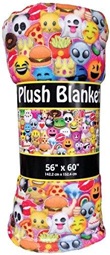iscream 'Emoji Collage' Premium Plush 56″ x 60″ Fleece Throw Blanket