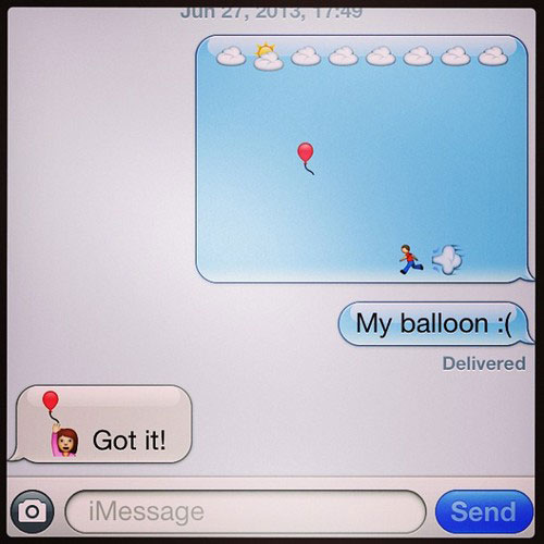 emoji stories, emoji balloon, funny emoji