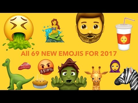 ? All 69 New Emojis for 2017