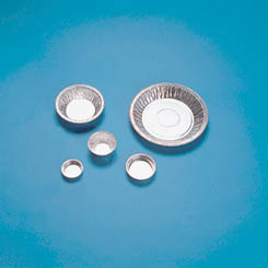 Aluminum Dish with Flange, 180 mm