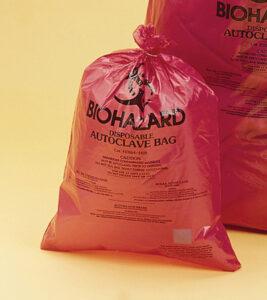 "37x48"" HDPE Biohazard Bag, 2 mil"