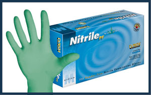 Nitrile Glove with Aloe, 10 packs/case