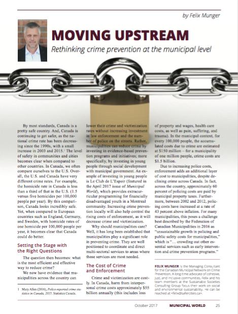 Municipal World Article First Page