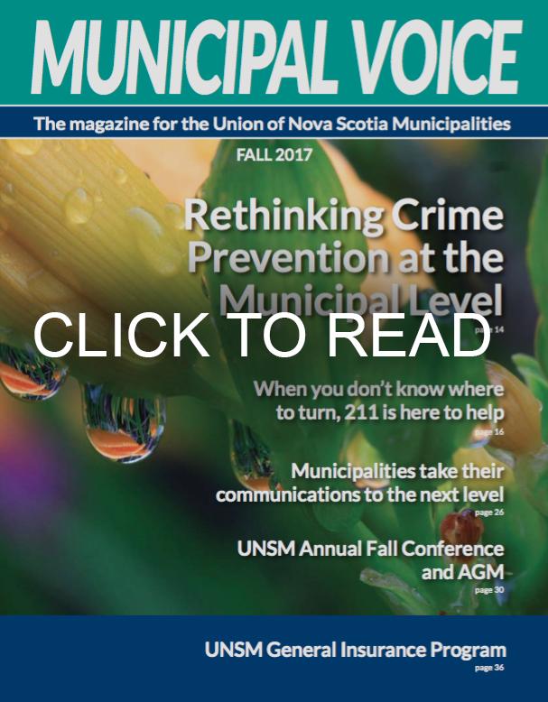 Municipal Voice front page