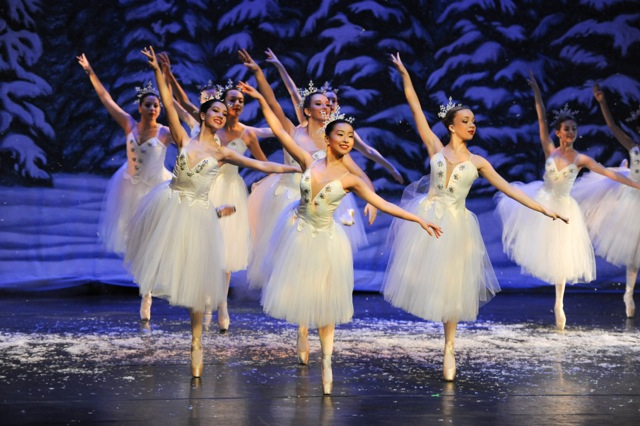 Beautiful dancers performing in the nutcracker