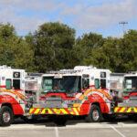 Three Fire trucks on display