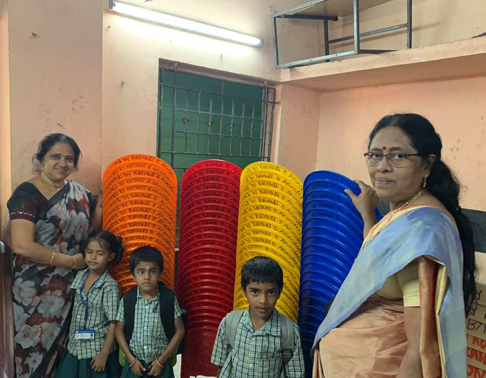 Chairs and Tables were donated to Tiruvottiyur Municipal middle school,Ernavour,Chennai