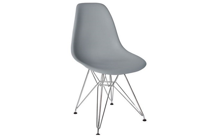 Cairo Light Grey with Chrome Legs Dining Chair Home Ingredientsw