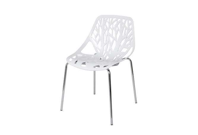 Dwell White + Chrome Dining Chair Home Ingredients