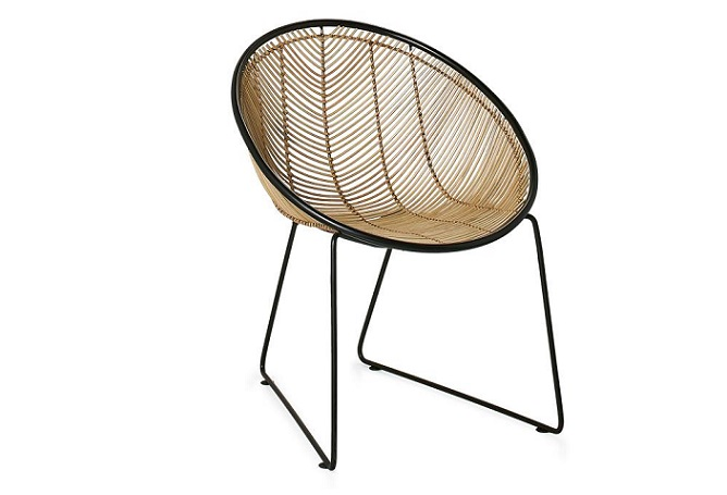 Casa Rattan Scoop Occasional Chair Home Ingredients