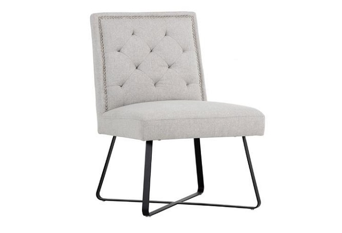 Georgia Light Grey Occasional Chair Home Ingredients