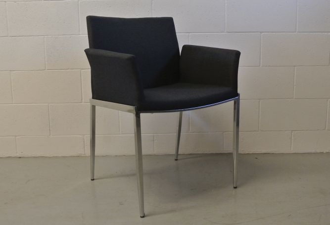 Tia Grey Armchair Dining Chair Home Ingredients