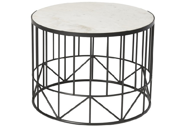 Alabaster Round Large Coffee Table Home Ingredients