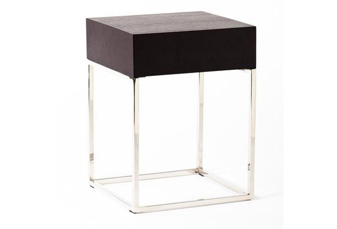 Chio Black Oak Side Table Home Ingredients