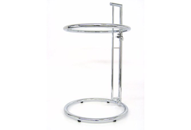 Chrome Adj Height Closed Side Table Home Ingredients