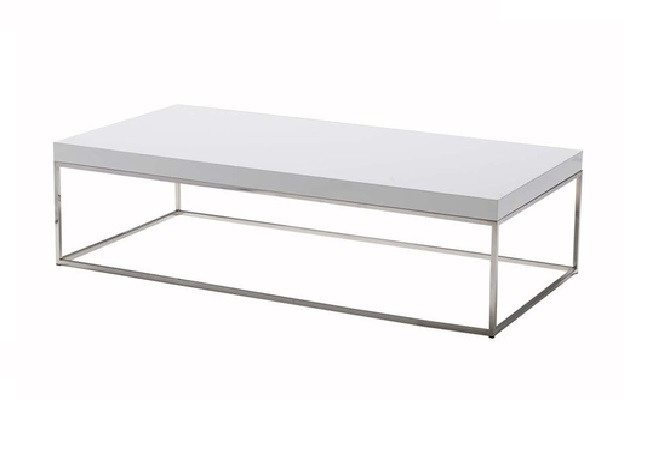 Kubo Rectangle White Coffee Table Home Ingredients