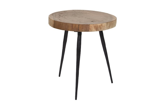 Nine Jagged Leg Tall Side Table Home Ingredients