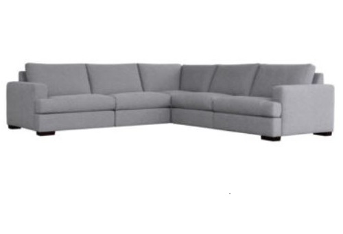Montague Grey 5PC Sectional Home Ingredients
