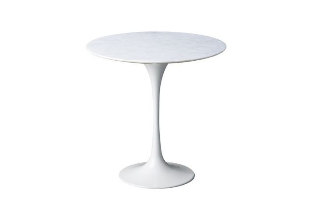 Flute Marble Side Table Home Ingredients