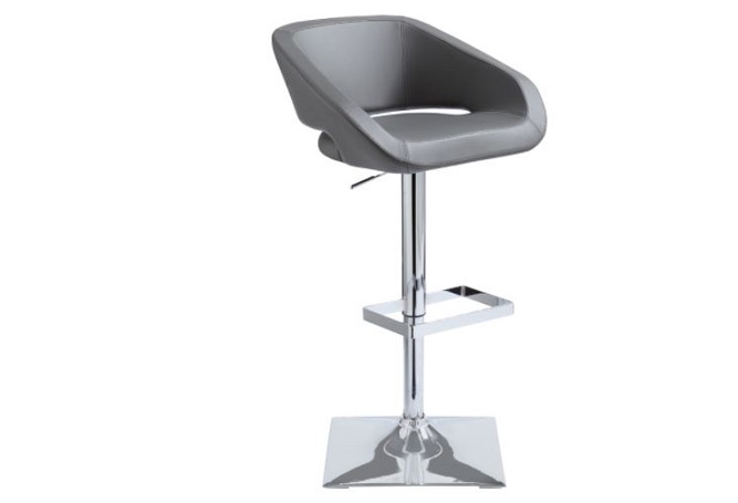 Gustavo Grey Leather Counter Stool Home Ingredients