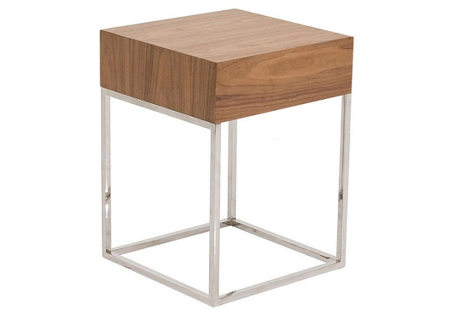 Chio Walnut Side Table Home Ingredients