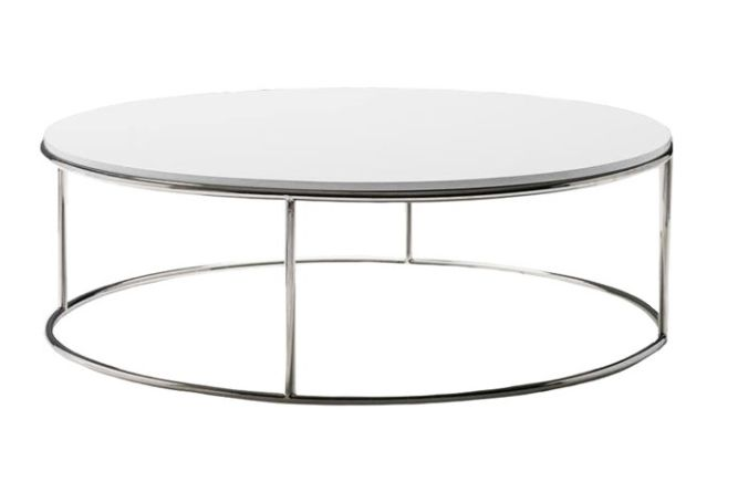 Round High Gloss Coffee Table Home Ingredients
