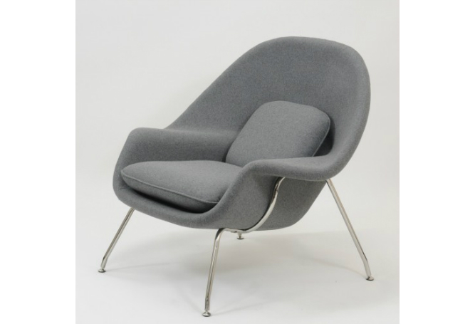 Womb Grey Occasional Chair Home Ingredients