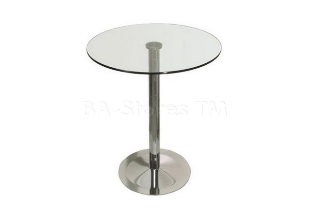Chrome + Glass Bistro – 28″ Dining Table Home Ingredients
