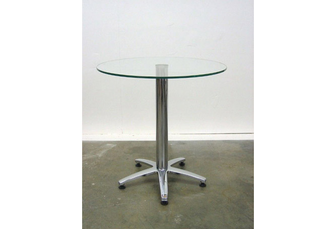 Chrome + Glass Bistro – 30″ Dining Table Home Ingredients
