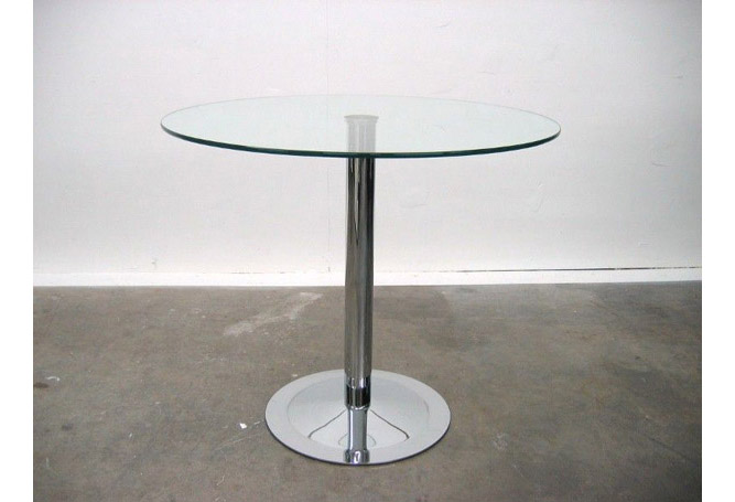 Chrome + Glass Bistro – 36″ Dining Table Home Ingredients