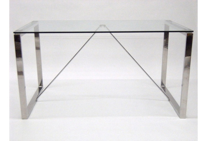 Chrome + Glass Madrid Dining Table Home Ingredients