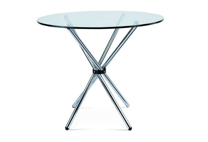 Edie Glass + Chrome Dining Table Home Ingredients