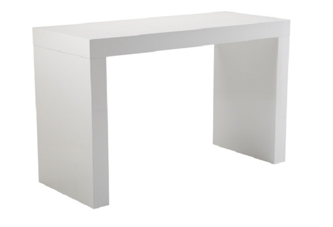 Faro C-Shape White Counter Table Home Ingredients