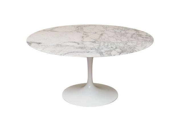 Flute Marble Round Dining Table Home Ingredients
