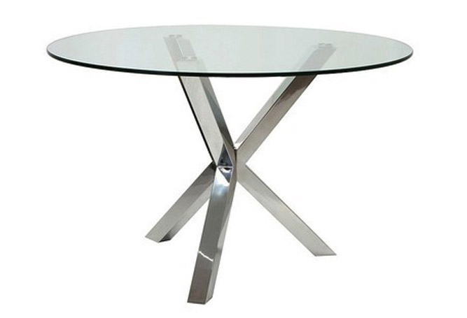 Redondo Glass + Chrome Dining Table Home Ingredients