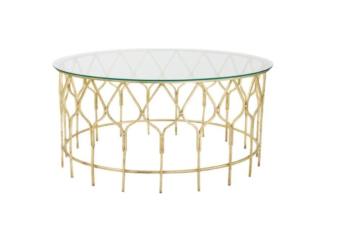 Calista Gold Coffee Table Home Ingredients
