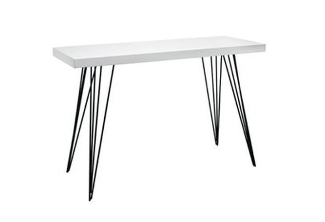 Tripod Leg Gloss White Console Home Ingredients