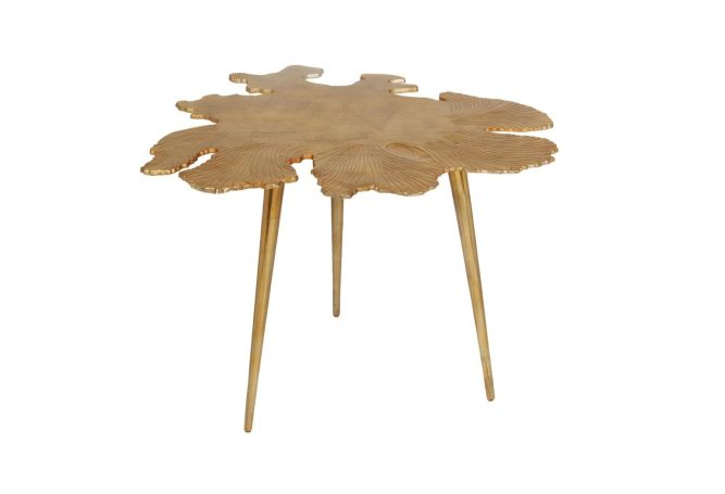 Amoeba Gold Side Table Home Ingredients