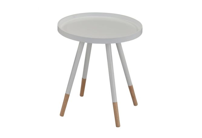 Hue Accent White Side Table Home Ingredients