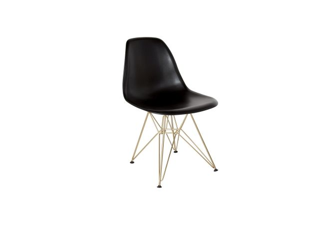 Cairo Black w Gold Legs Dining Chair Home Ingredients