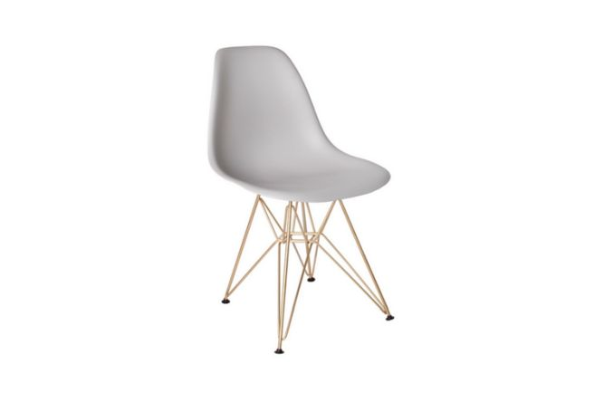 Cairo Light Grey W Gold Legs Dining Chair Home Ingredients Furniture Rentals