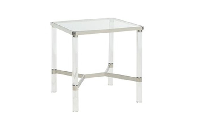 Morelia Chrome Side Table Home Ingredients