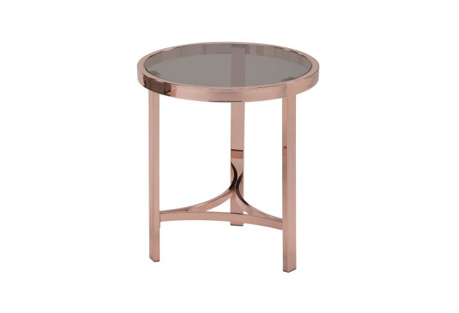 Strata Gold Rose Side Table Home Ingredients