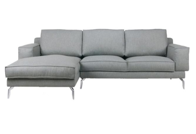 Astrix Left Facing Grey Sectional Home Ingredients