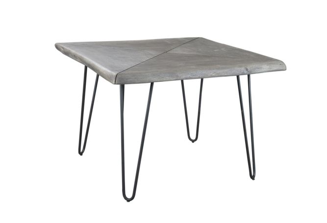 Organic Square Grey Dining Table Home Ingredients