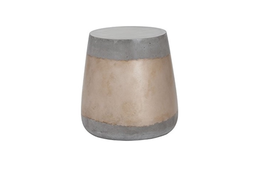 Aries Concrete + Gold Side Table Home Ingredients