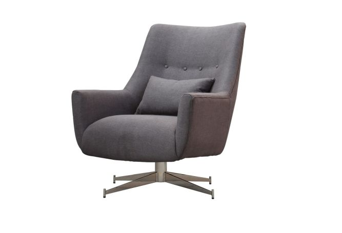 Plaza Stone Grey Occasional Chair Home Ingredients