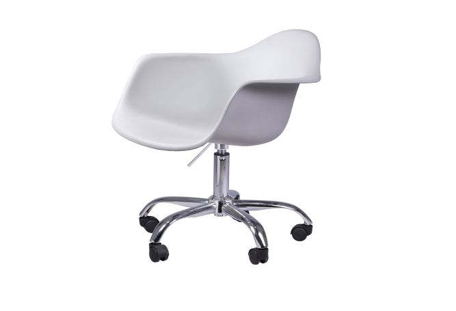 Captain Tub Swivel White Chair Home Ingredients